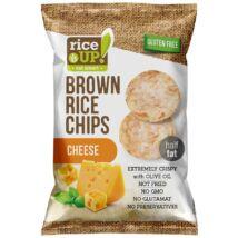 Rice Up! Teljes Kiőrlésű Barna Rizs Chips Sajtos 60 G