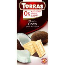 Torras Kókuszos Fehércsokoládé  Hozzáadott Cukor Nélkül 75 g
