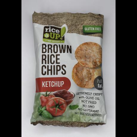 Rice Up! Teljes Kiőrlésű Barna Rizs Chips Ketchupos Ízesítéssel 60 G