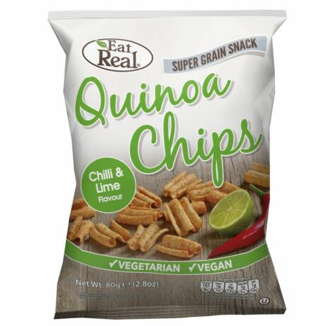 Eat Real Quinoa Chips Laktózmentes Chili-Lime Ízben 30 g