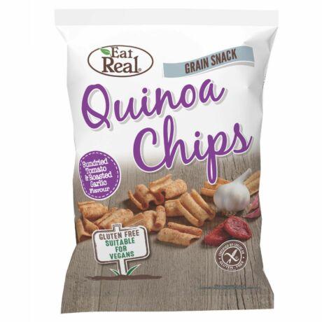 Eat Real Quinoa Chips Paradicsom Sült Fokhagyma Ízben 30 g