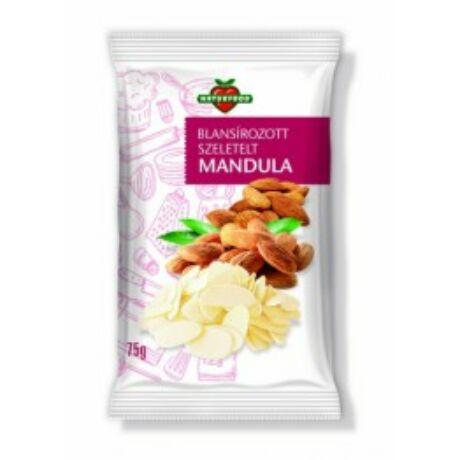 Naturfood Mandula Szeletelt 75 g