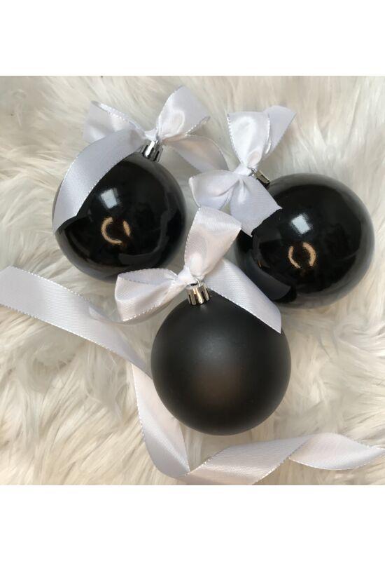 Fekete gömb 8 cm